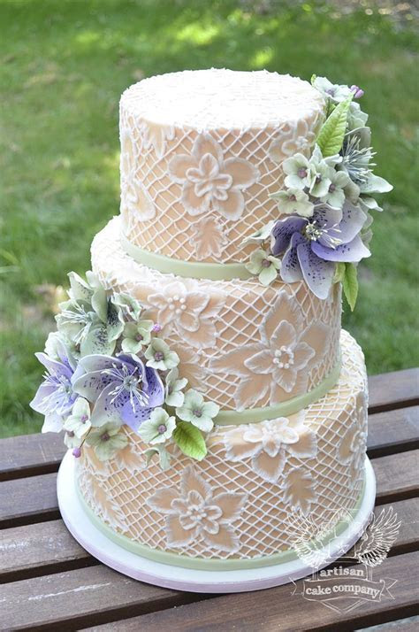 372 best images about Cake Design   Lace cakes on