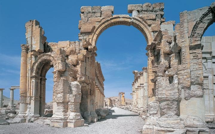 The real Arch of Triumph, Palmyra before it was destroyed in a blast
