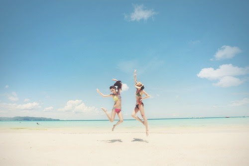 beach, girls , jump, photography, sand