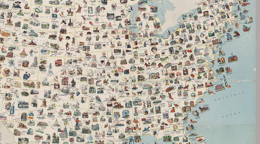 Visit every place on this vintage US map for the most epic road trip ever