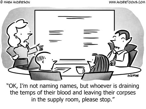Vampire Business Cartoon