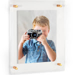24x36 Acrylic Floating Frame for Pictures and Art With Gold Standoff (Full Frame is 28x40)