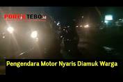 VIDEO : Ugal-ugalan di Simpang Betung Bedarah, Pengendara Motor Nyaris Diamuk Warga