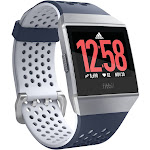Fitbit Ionic - Smart Watch with Heart Rate Monitor - Adidas Edition - Ink Blue/ice Gray