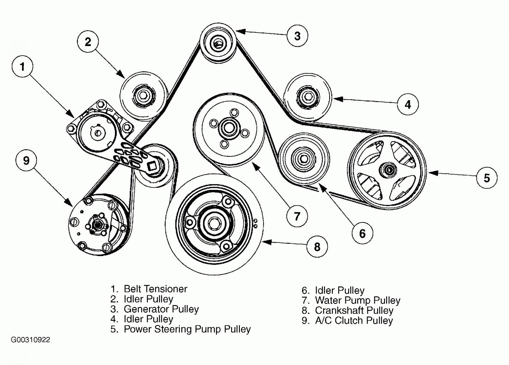 03 Ford Taurus Belt Diagram