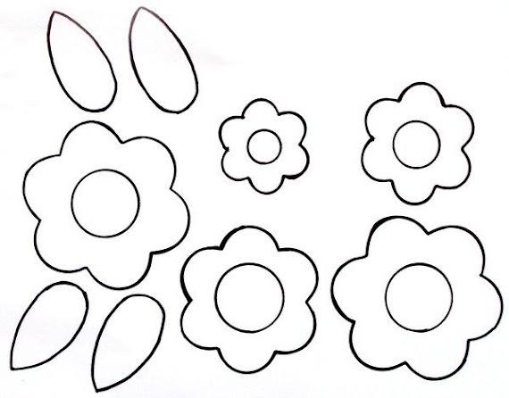 (basılabilir) Okul öncesi çiçek Boyama Sayfaları