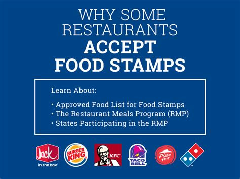 restaurants  food stamps food stamps