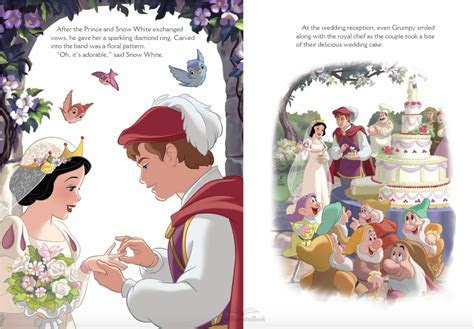 Snow White and her Prince sharing their Wedding vows and
