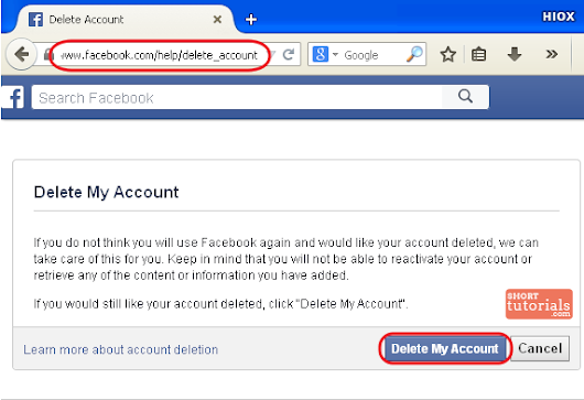 Its really easy to delete your facebook accountlearn how to delete how to delete facebook fb account ccuart Gallery