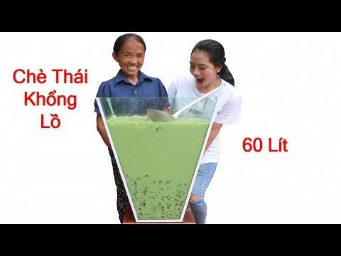 Bà Tân Vlog - Làm Cốc Chè Thái Siêu To Khổng Lồ 60 Lít Sẽ NTN
