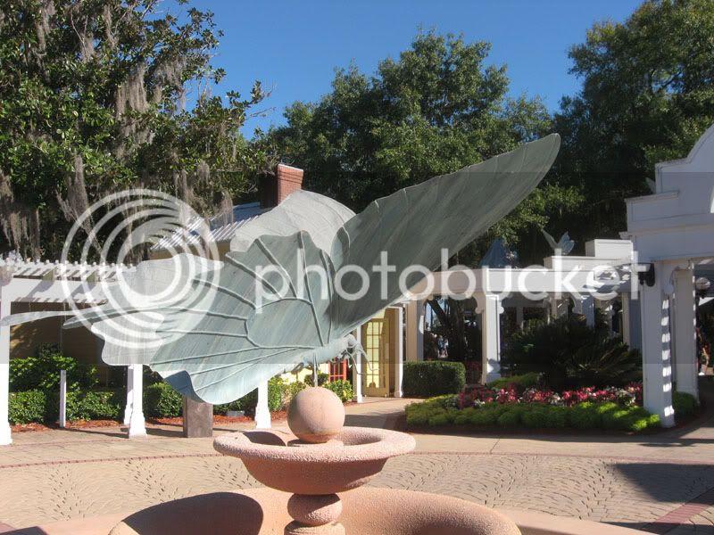 butterfly statue