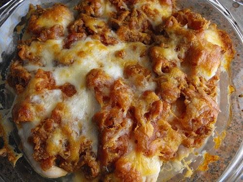 Peitos de frango com farinheira no forno