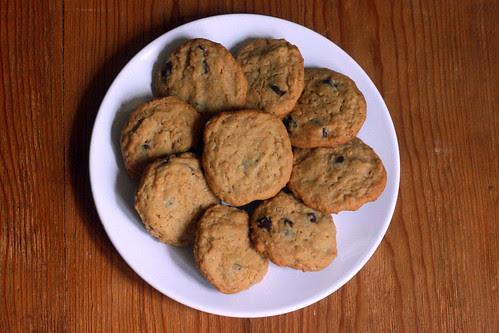 sea salt peanut butter oatmeal chocolate chip cookies