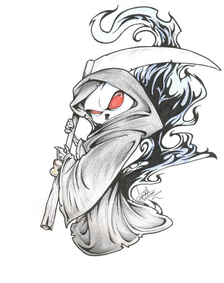 Grim Reaper Drawing Art Drawing Skill