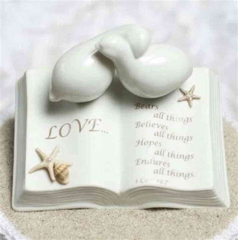 Love Verse Bible with Doves and Starfish Beach Accents