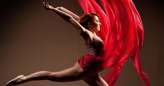 Ballet leap in red. | Ballet & Dance | Pinterest