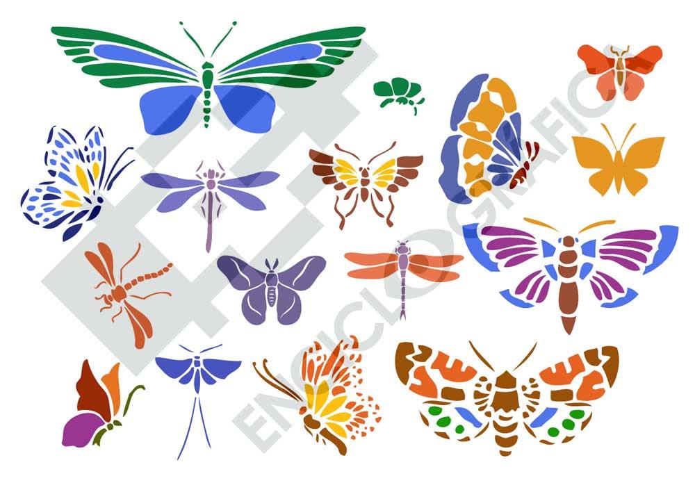 Mariposas Plantillas Para Stencil
