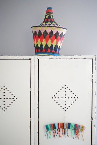 fringes by wood & wool stool