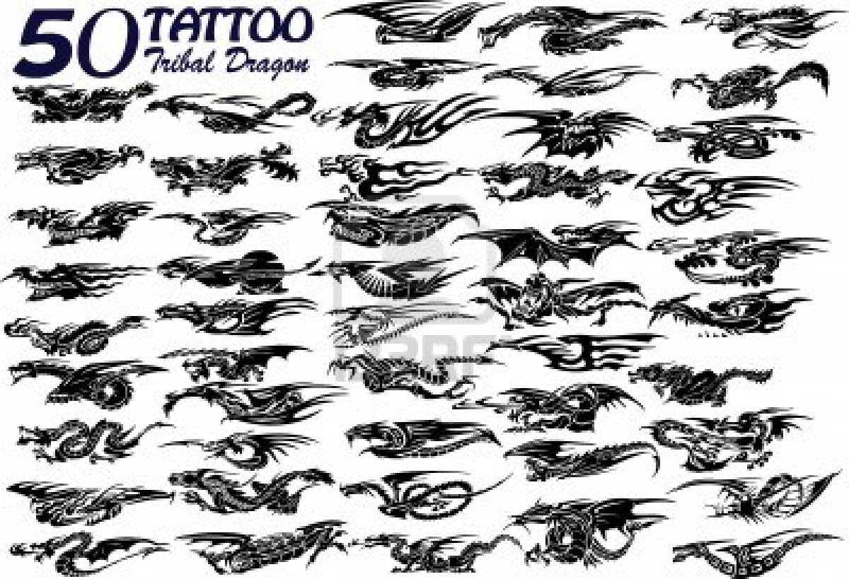 Small Tribal Dragon Tattoo 50 Designs