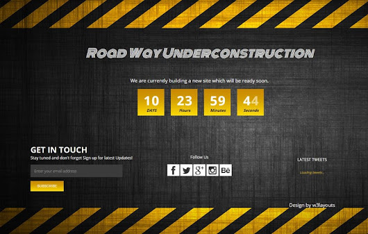 Road Way Under Construction Flat Responsive Web Template by w3layouts