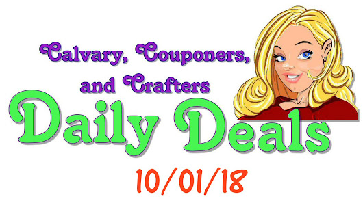 Daily Coupons and Deals for October 1, 2018