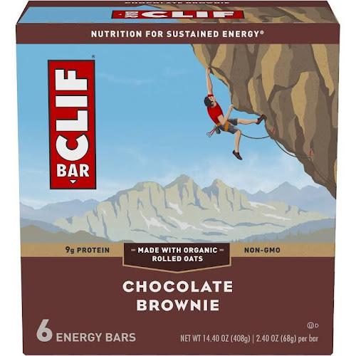 Clif Energy Bar, Chocolate Brownie - 6 pack, 2.4 oz bars