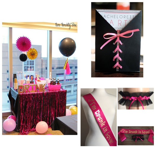 Fuchsia Pink and Black Bachelorette Party Ideas – Just Fun Garters