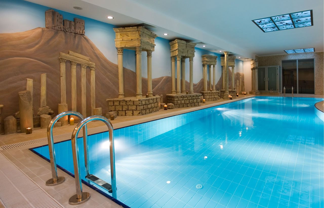 Egyptian Style Interior Large Indoor Pool