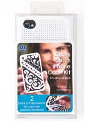 Cross Stitch Phone Case Kit White for iPhone®