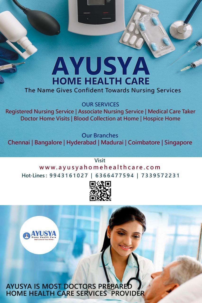 Ayusya Home Health Care Pvt Ltd-Bangalore-Chennai-Madurai-Coimbatore  Nursing Services