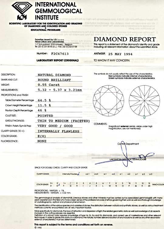 Foto 9, Diamant, IGI, 0,55Carat Brillant Lupenrein River Juwel!, D5592
