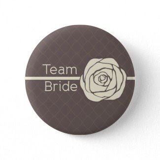 Team Bride Vintage Rose Button