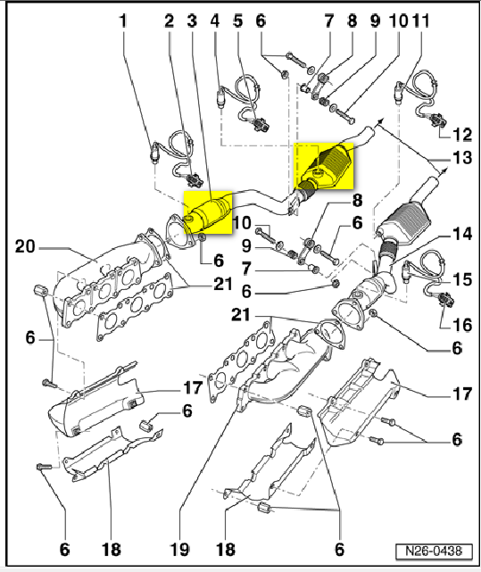 Wiring Diagram: 33 2003 Vw Passat Exhaust System Diagram