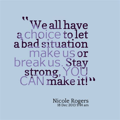 Bad Situation Quotes
