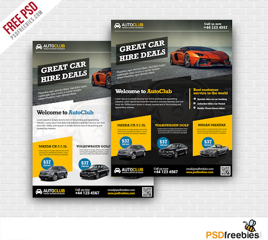 Cars Rental Flyer Free PSD Template | PSDFreebies.com