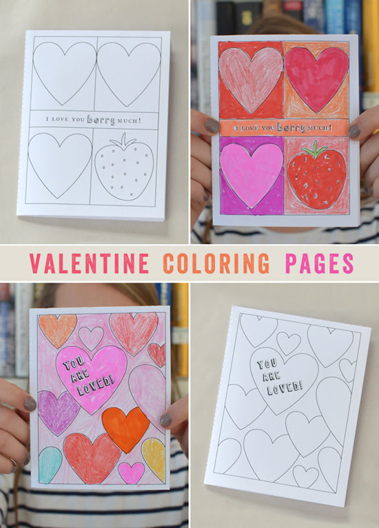 Printable Valentine Coloring Pages for Kids ~ Coloring ...