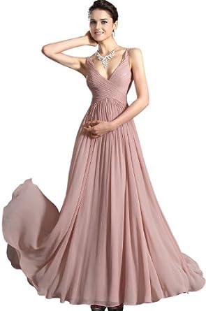 abendkleider langs edressit 2012 neu hell rosa vausschnitt zweittraeger lang abendkleid