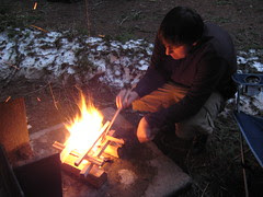 Forrest Tending the Fire
