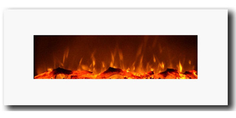 Touchstone 80002 Ivory Wall Mounted Electric Fireplace 50 Wide