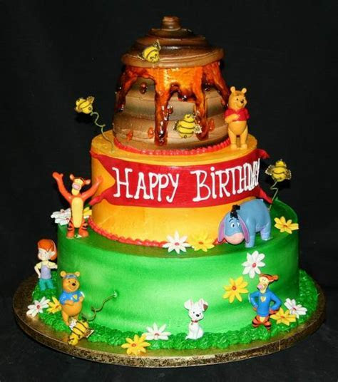 Best Pooh Birthday Cake Picture   Best Collections Cake Recipe