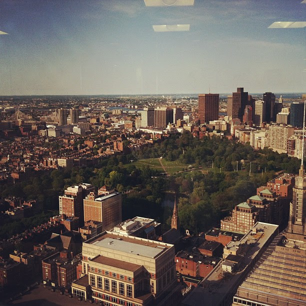 View of Boston from the top