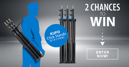 Win 1 of 2 Kupo 8' Click Stand Sets (3 stands each!) Total Value $462