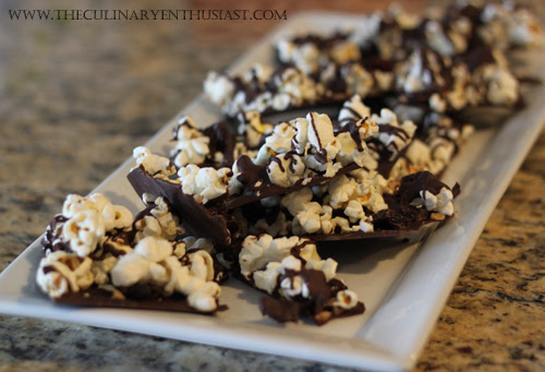 Edible Gift: Popcorn Bark with Toffee and Dried Cherries