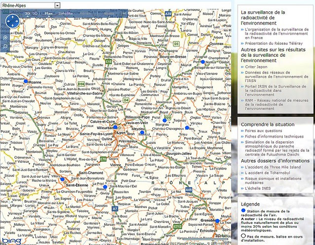 IRSN Radioactivité en Rhône-Alpes