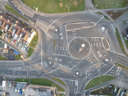 This is an actual roundabout in the UK