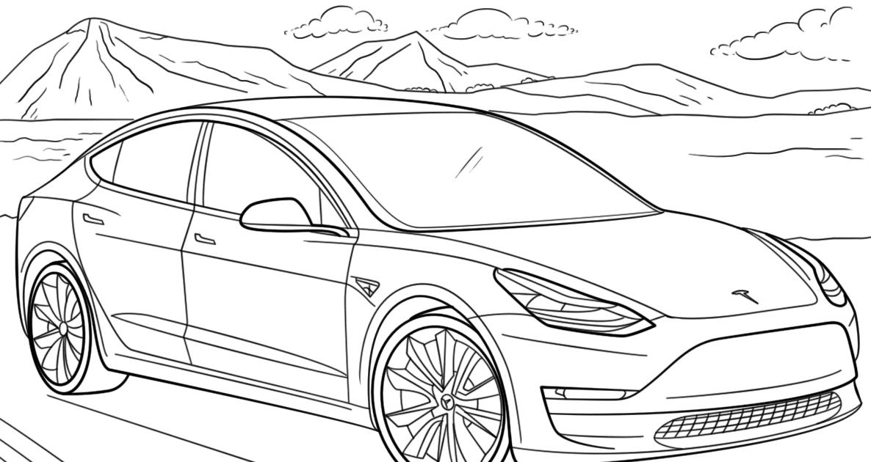 Tesla Model S Drawing