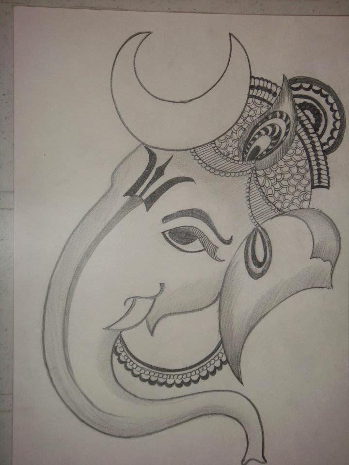 Simple Vinayagar Pencil Drawing Bestpencildrawing