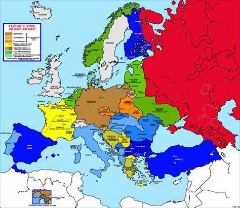 Map of europe before ww2