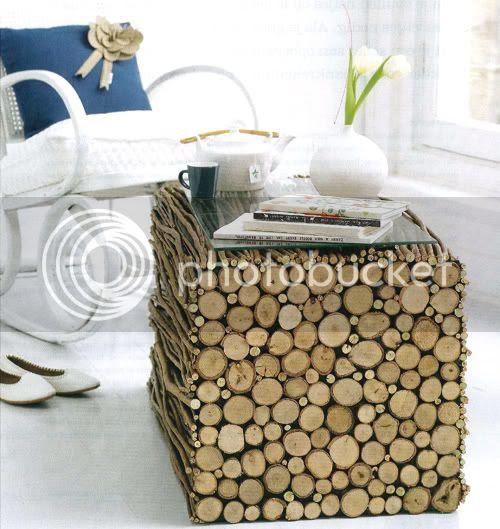 DIY Wood Log Table