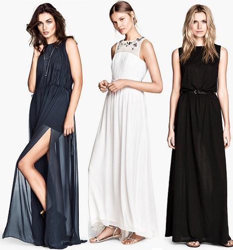 vestidos de fiesta largos de H&M primavera verano 2014